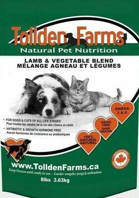 Tollden Farms Lamb & Vegetable 8lb/3.63kg