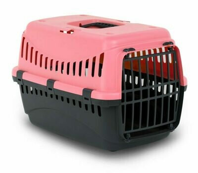 Bergamo Gypsy Plastic Pet Carrier with Plastic Door S 12.4 x 12.8 x 18.4