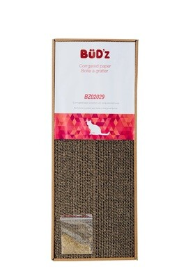Bud'Z Corrugated Paper Scratcher with Catnip