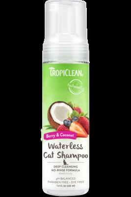 TropiClean Waterless Cat Shampoo 220ml