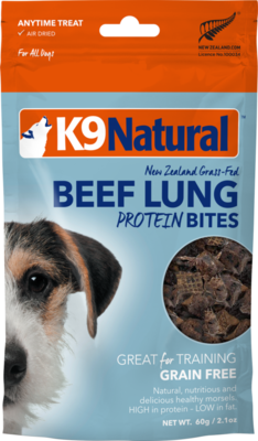K9Natural Beef Lung Protein Bites 60g