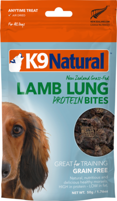 K9Natural Lamb Lung Protein Bites 50g