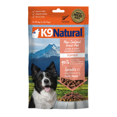 K9Natural Lamb & King Salmon Feast Freeze Dried Topper 100g