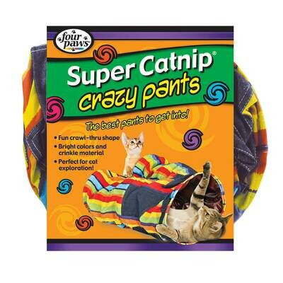 Four Paws Super Catnip Crazy Pants Cat Tunnel