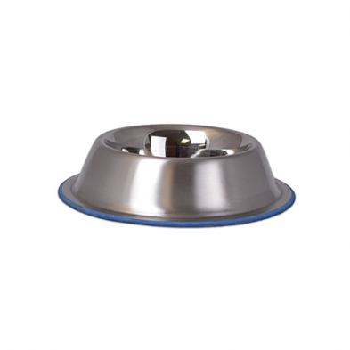 OurPets Durapet Premium Rubber Bonded Stainless Steel No Tip Bowl