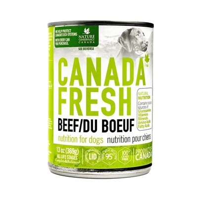 Canada Fresh Dog Food Canned Beef 369g (12pk)