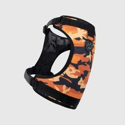 Canada Pooch Everything Harness Water Resistant Orange Camo