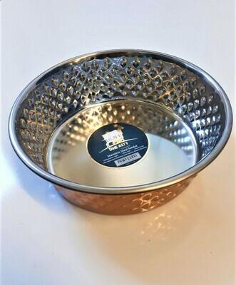Arjan Food Bowl Diagonal Diamond Copper