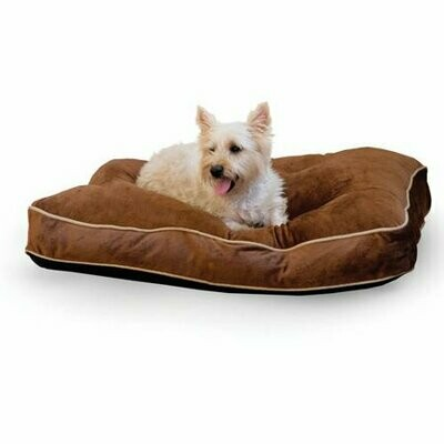 K&H Tufted Pillow Top Bed Chocolate 20 x 30