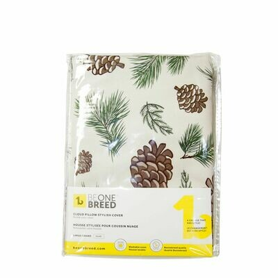 BeOneBreed Cloud Pillow Cover Pinecones M 27 x 36