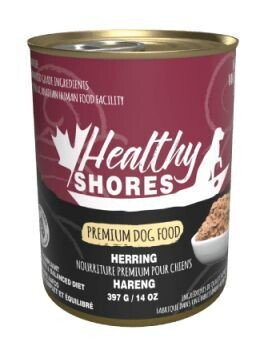 Healthy Shores Dog Food Canned Pacific Herring 397g (12pk)