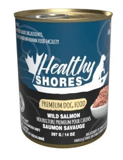 Healthy Shores Dog Food Canned Wild Salmon 397g (12pk)