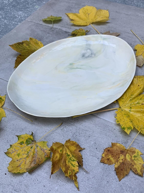 Plat marbré de porcelaine