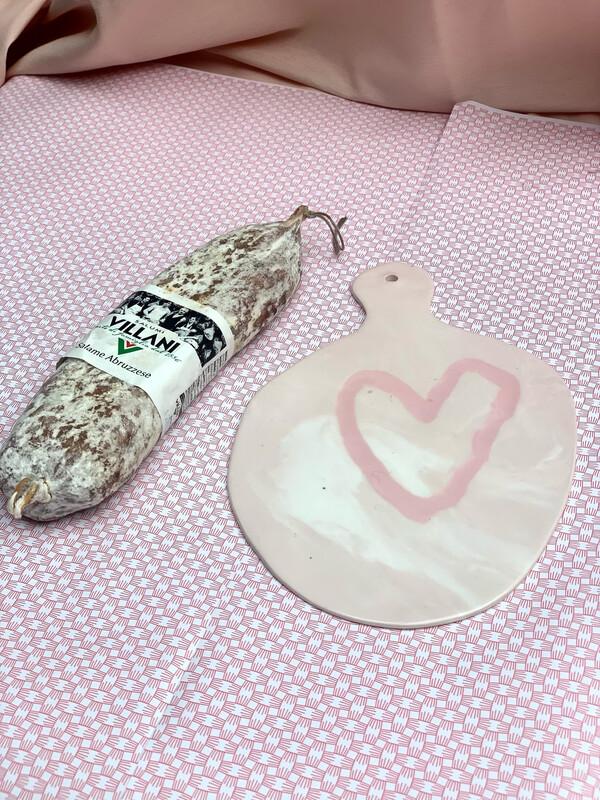 Planche coeur ♥️ avec un saucisson Villani !
