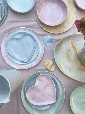 Marbeling pastel