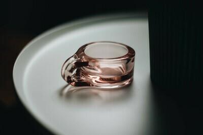 Floe Tealight Candle Holder - Normann Copenhagen (coral pink glass)