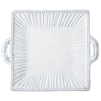 Incanto Striped Handled Square Platter (FR)