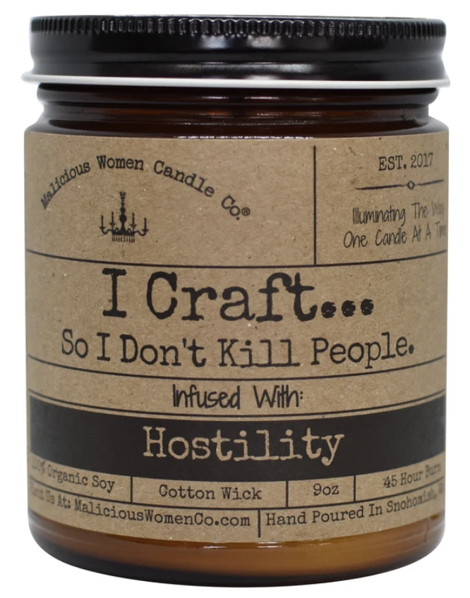 I Craft So I Don't Kill People Candle