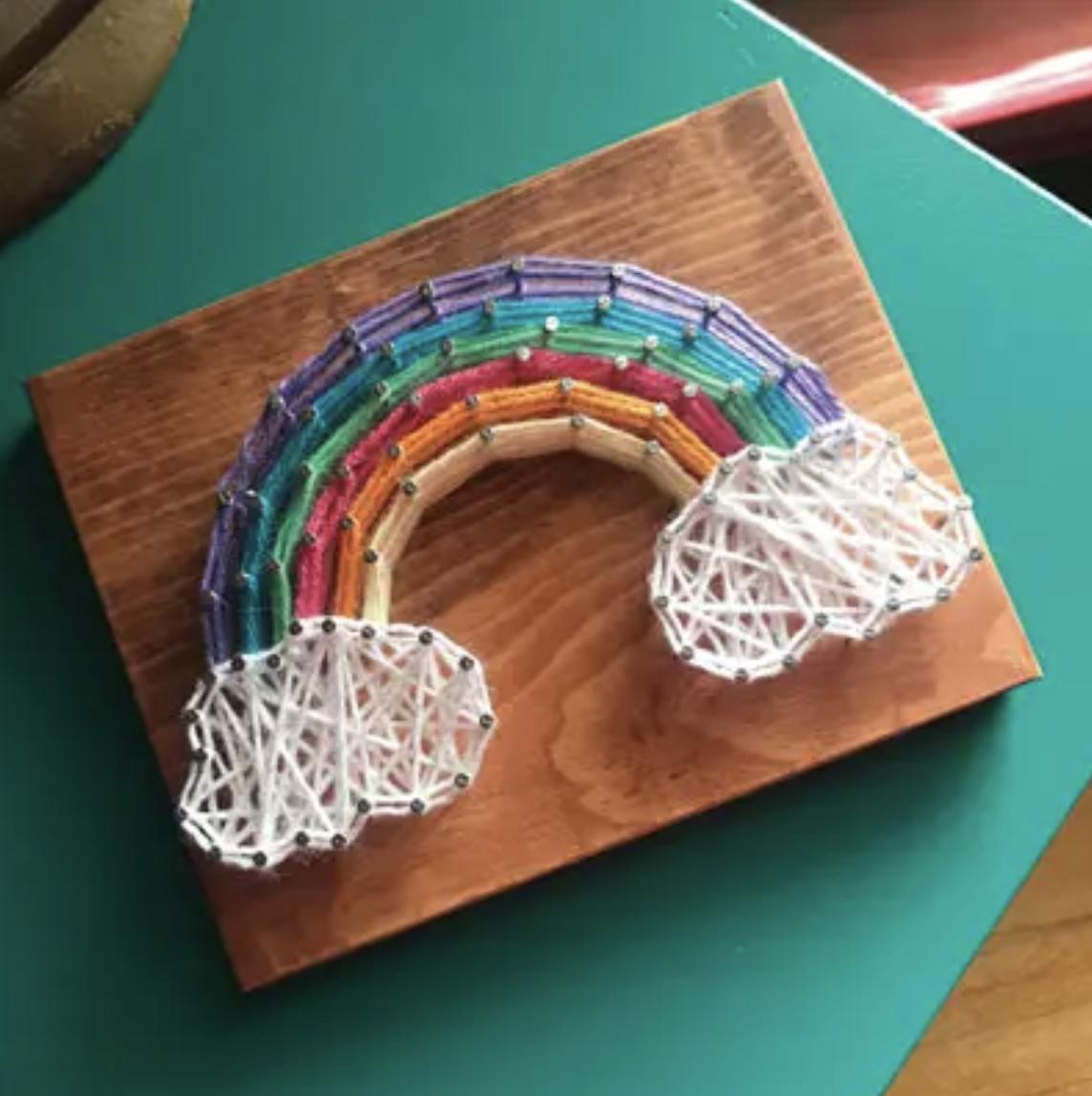 Rainbow Mini String Art Kit