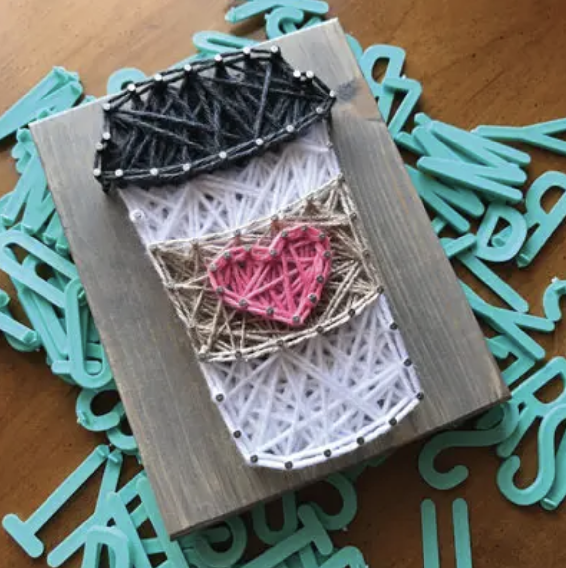Coffee Mini String Art Kit