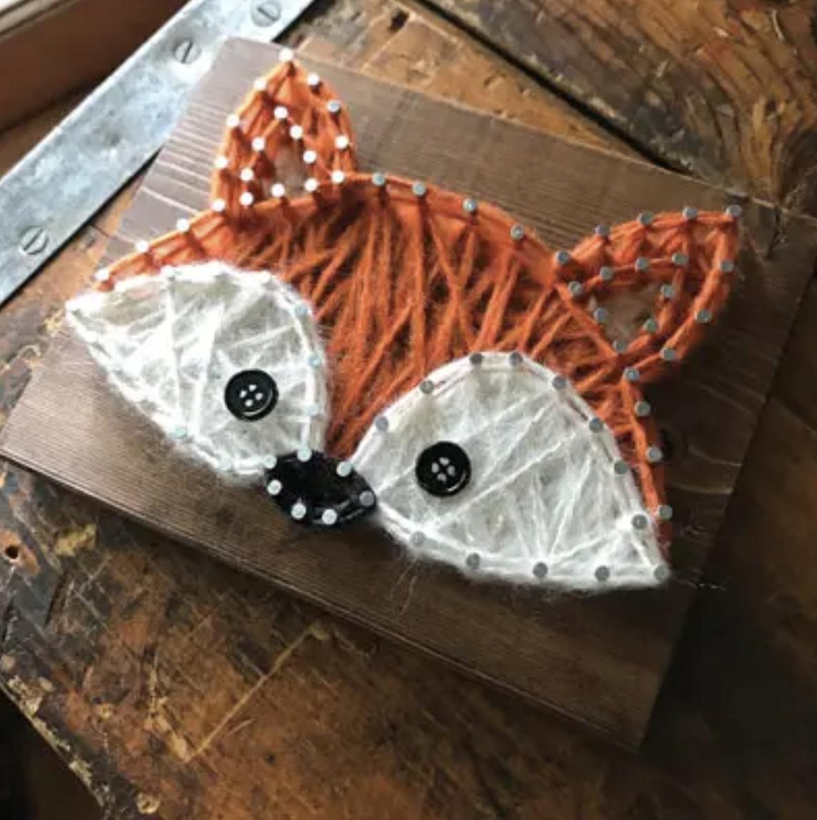 Fox Mini String Art Kit