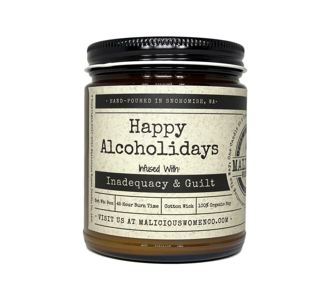 Happy Alcholiday! Candle
