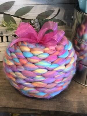 Wool Knit Pumpkin - Stitched