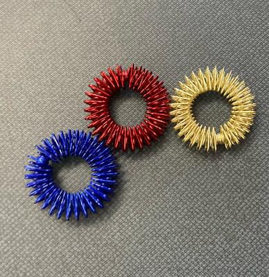 3pk Spiky Fidget Rings