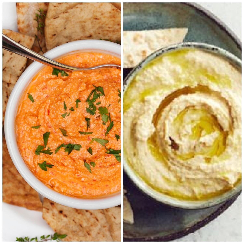 Pita, Hummus & Tirosalada