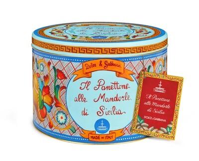 Panettone Mandorle (1000 gr - Azzurro)