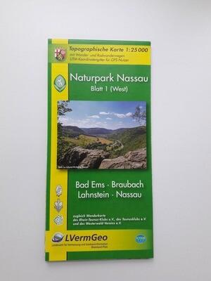 Karte Naturpark Nassau (West)