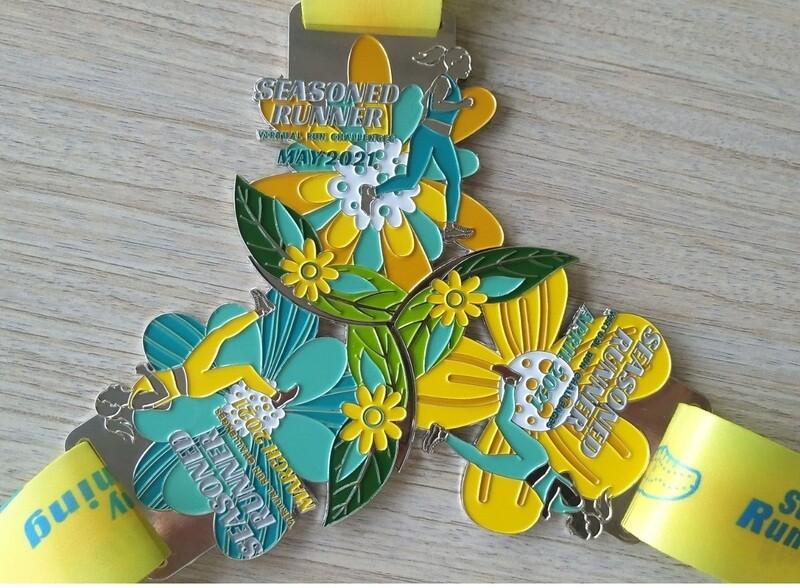Spring Season Trifecta Virtual Run Medals