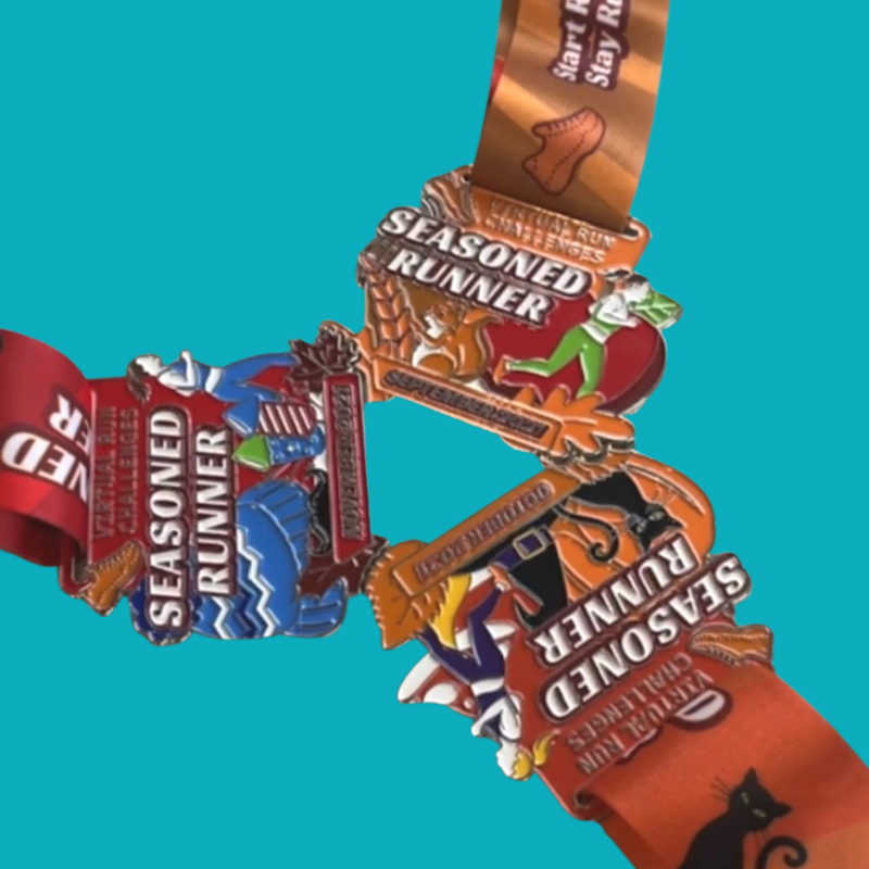 Autumn Season Trifecta Virtual Run Medals 15% off EARLY BIRD PRICE