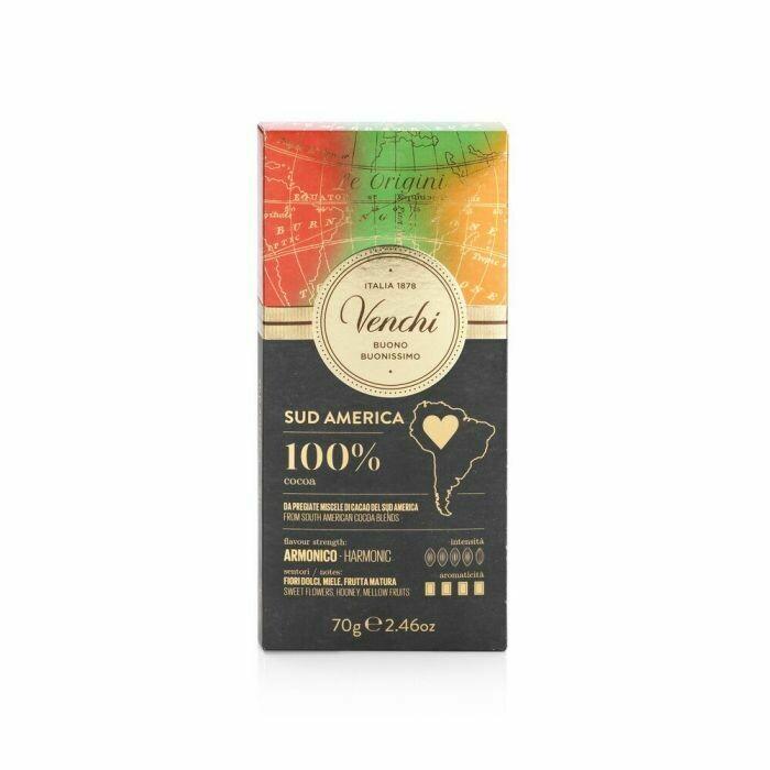 Venchi - Tavoletta cioccolato fondente Sud America 100% - 70g