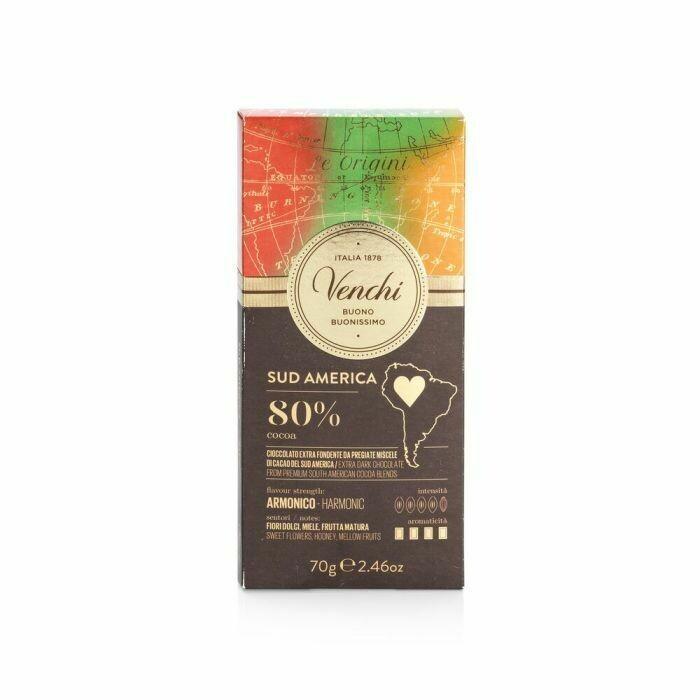 Venchi - Tavoletta cioccolato fondente Sud America 80% - 70g