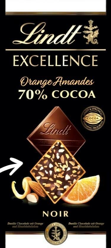 Lindt - Excellence - Orange Amandes - 100g