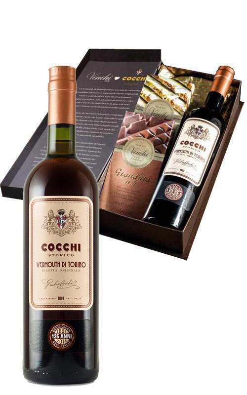 Venchi -Kit Degustazione cioccolato Venchi (400 g) e Vermouth (50 ml)
