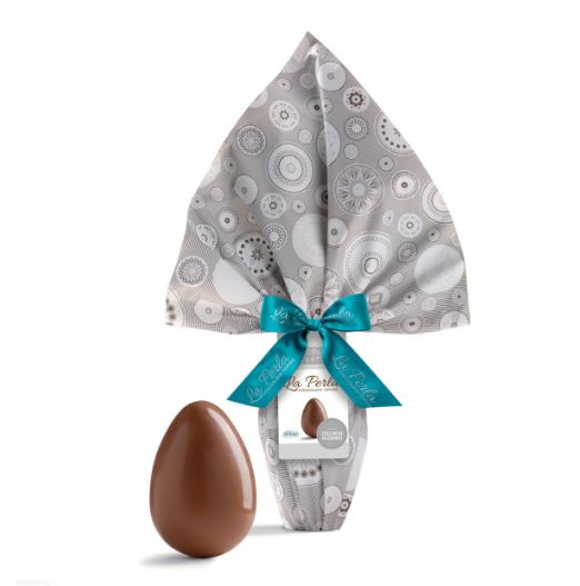 La Perla - Uovo di finissimo cioccolato al latte senza zuccheri aggiunti. 300g