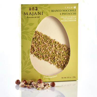 Majani  Plato' - Cioccolato Bianco, Pistacchi e Nocciole - 250g
