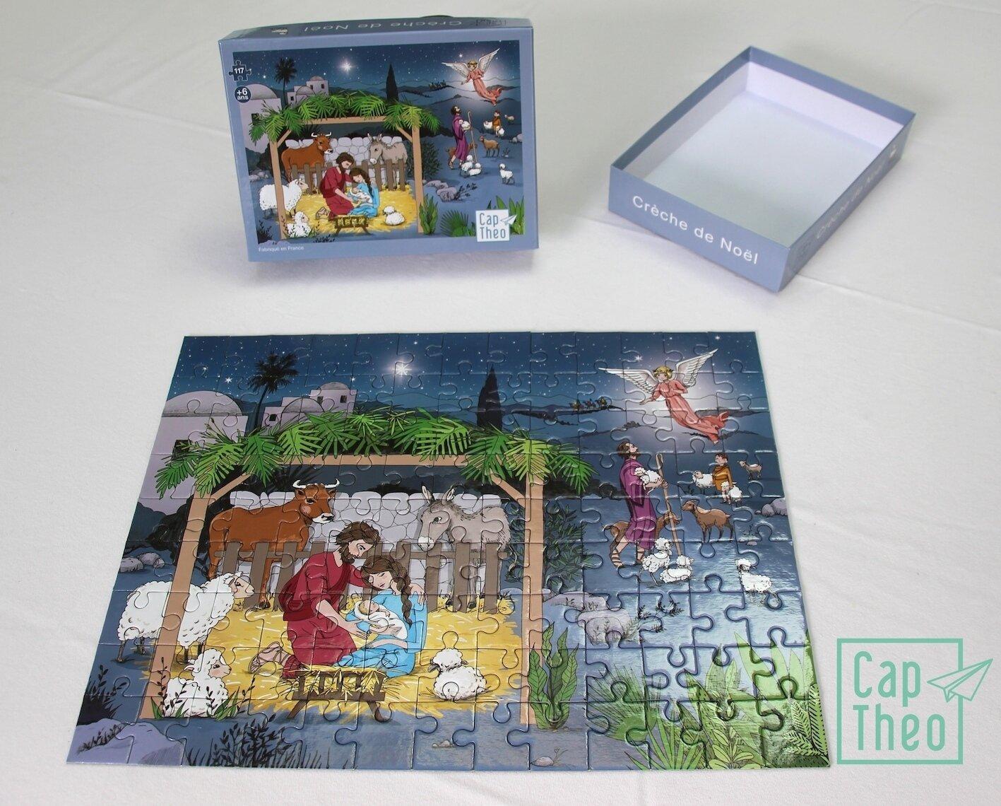 Puzzle Crèche de Noël 117 pièces