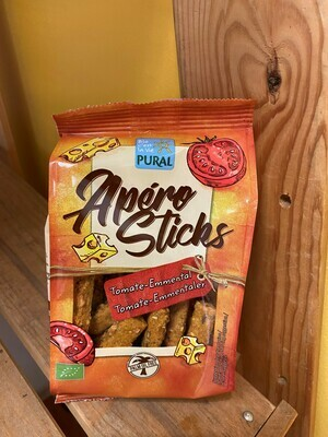 Sticks apéritif farine d'épautre tomate/emmental. 100g