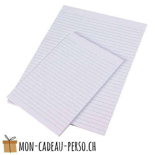 Bloc-note - A4 - 50 pages - pour porte-document A4
