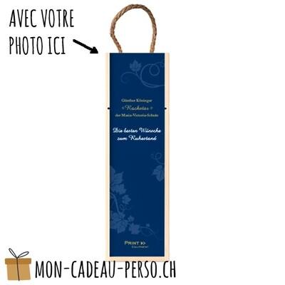 Boîte cadeau personnalisée pour 1 bouteille - Sublimation - 350x105x105mm