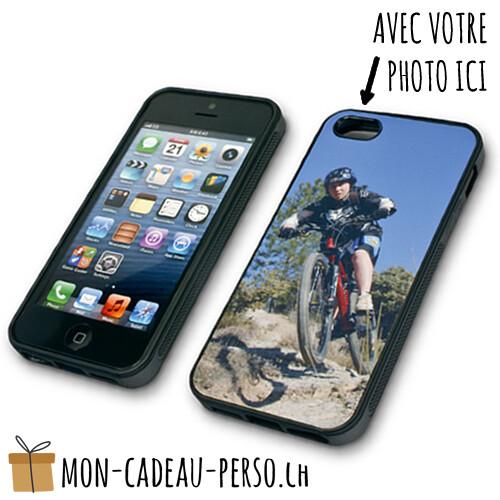 Coque de Smartphone personnalisée - Sublimation - NOIR - iPhone 5