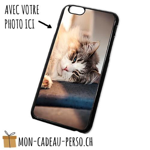 Coque de Smartphone personnalisée - Sublimation - NOIR - iPhone 6