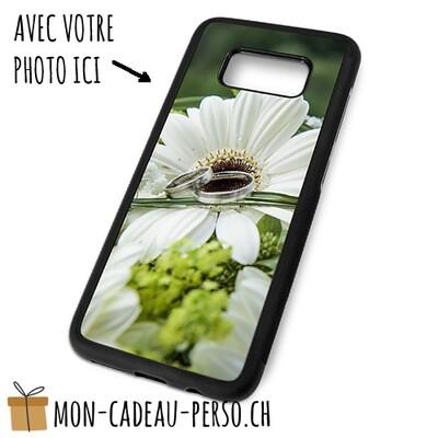 Coque de Smartphone personnalisée - Sublimation - NOIR - Galaxy S8 Plus