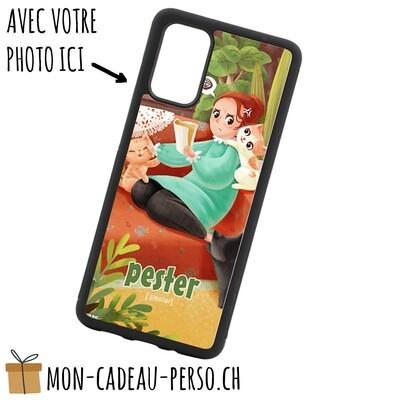 Coque de Smartphone personnalisée - Sublimation - NOIR - Galaxy S20 Plus