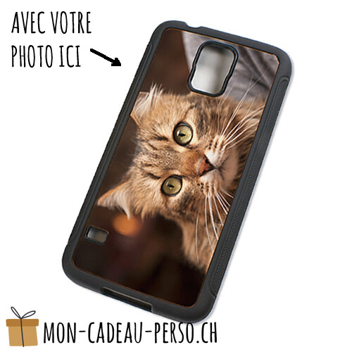 Coque de Smartphone personnalisée - Sublimation - Noir - Galaxy S5