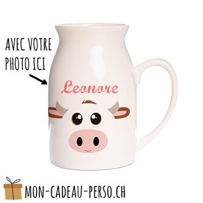 Pôt à lait personnalisé - Sublimation - Grand 450ml - Impression couleur