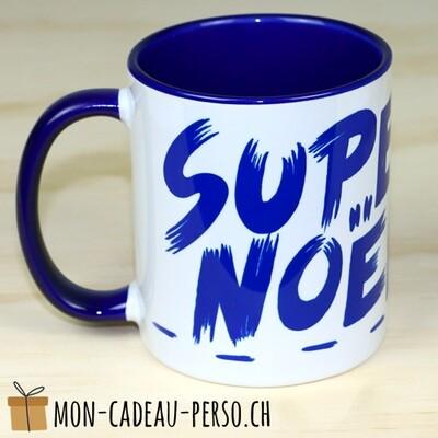 MUG SUPER NOËL - Sublimation - Duraglas Brillant - BICOLORE